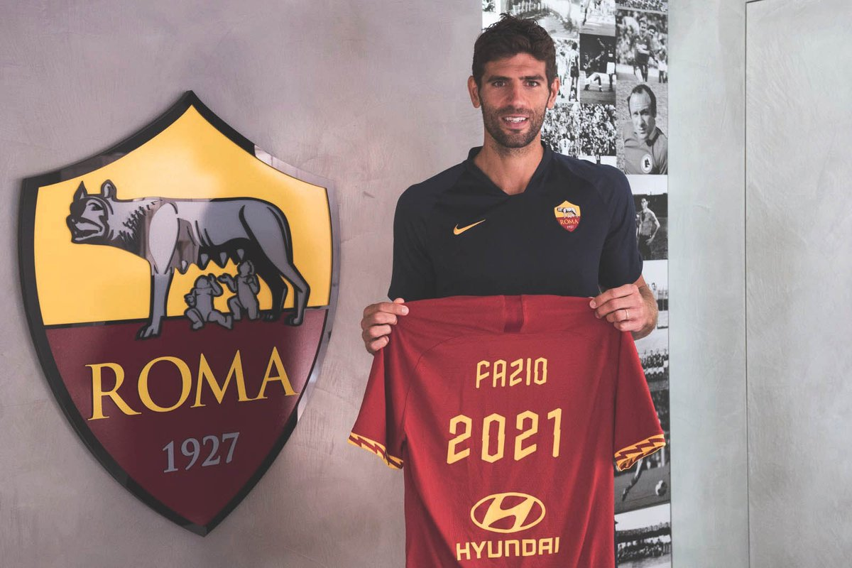 OFFICIAL: Federico Fazio has renewed his contract with AS Roma until 2021.