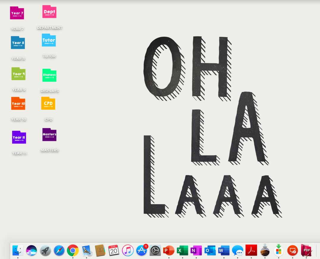 Procrastination level is high when you spend hours reorganising your files. Thanks @MissClarkeRE for pointing me in the right direction to change the icons