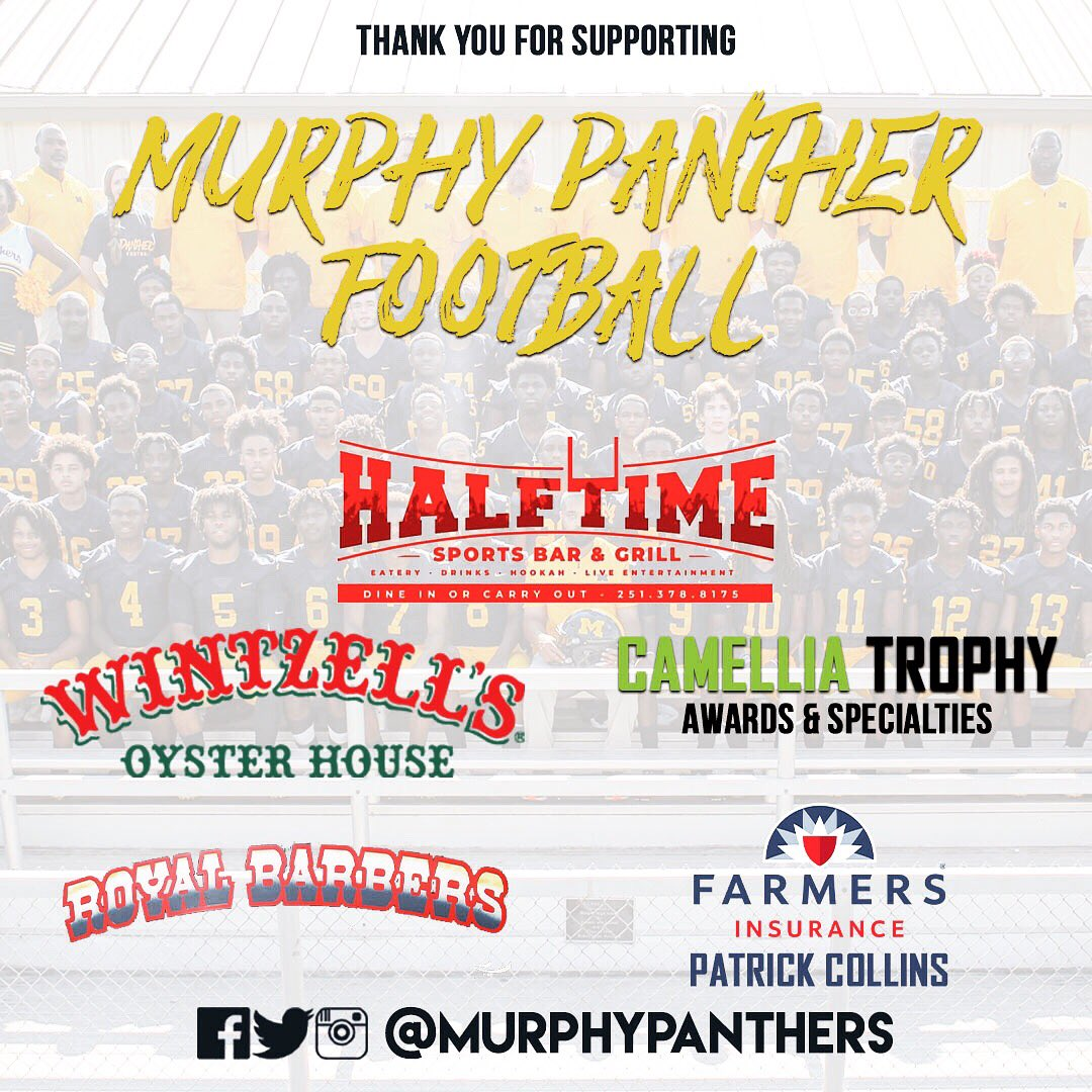 Thank you to our sponsors for supporting Murphy Panther Football! 🙌🏈 #murphy #pantherpride