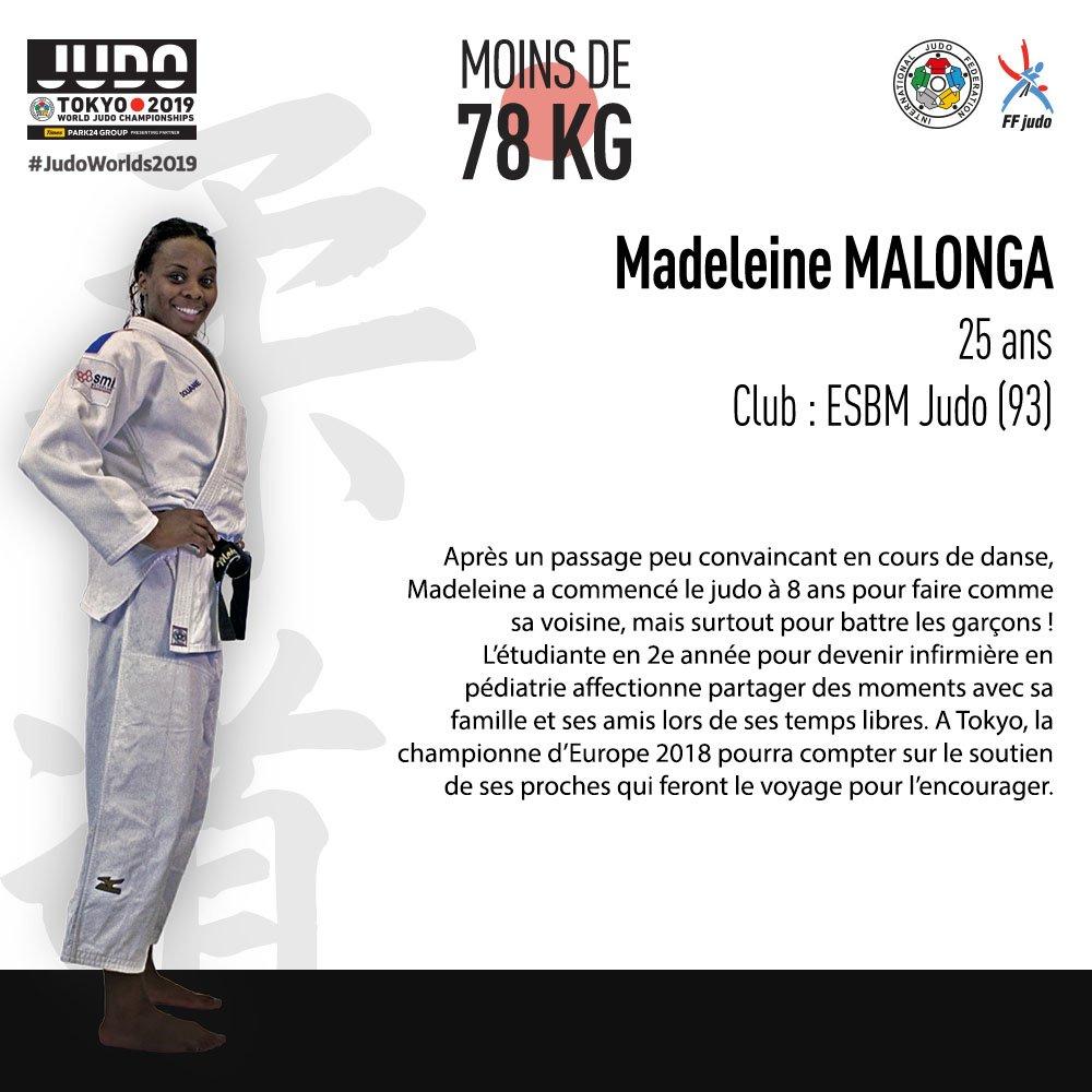 Vendredi prochain, nos trois tricolores Madeleine MALONGA, Alexandre IDDIR et Cyrille MARET donneront tout pour monter sur le podium 💪🥋🇫🇷. #JudoWorlds2019 #Espritbleu #TeamFrance   @MadoM_longa @AlexIddir @CyrilleMaret https://t.co/QrYo6AC1K7