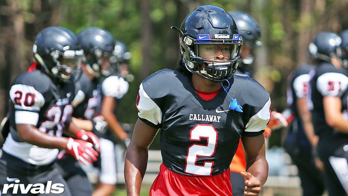 Has one school pulled ahead for Callaway (GA) athlete Jacob Freeman? He admits that committing has crossed his mind. Freeman gives the latest: rvls.co/Freeman8-20