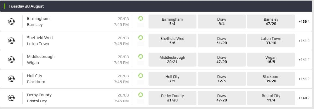 Five games taking place in the Championship tonight! Full betting markets below ⚽➡ nbet.co/2nn 18+ | T&Cs apply