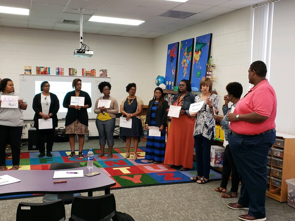 Teachers in Henry County are using four beat body percussion ostinato to introduce themselves with adjectives! @NHE_HCS @HES_HCS #ArtsNowLearning<br>http://pic.twitter.com/0NkcEKQUkO