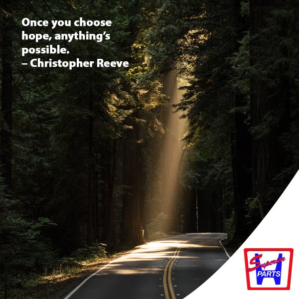 Once you choose hope, anything's possible. – Christopher Reeve #goodmorning #morningquotes <br>http://pic.twitter.com/Q6HuvHZ0fB