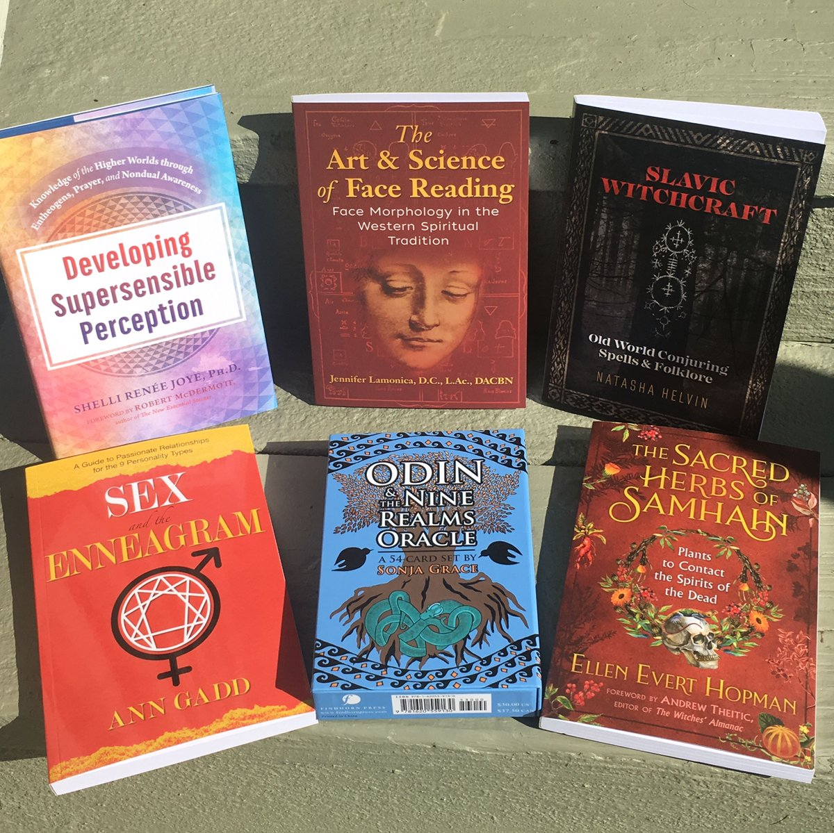 Our August titles take a fresh look at relationships/sex, supersensory powers, face reading, Samhain, Odin, and Slavic Witchcraft.  https://t.co/cg7mo1Pyen  #sex #enneagram #relationships #facereading #samhain #odin #witchcraft #read #books #newreleases https://t.co/EORqMjVPxw