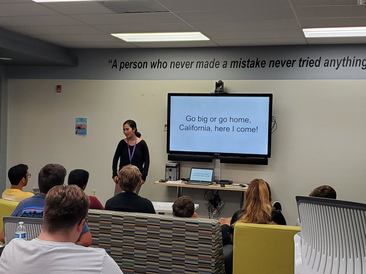 Thanks to Katie Fang w/ @SchooLinks for telling her entrepreneurial journey w/ the @NCHSOFFICIAL @incubatoredu students #leanstartup #entrepreneurs #together203<br>http://pic.twitter.com/zcICDSS5Ma