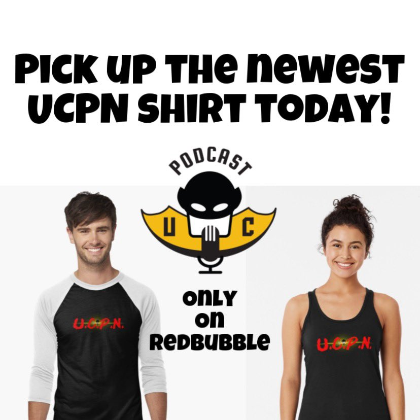 Get your official UCPN Merchandise exclusively on Redbubble! Show the world which podcast you love with the variety of designs.   #UCPN #Podcast #Merch   http://bit.ly/UCPNproud pic.twitter.com/2ZaTMf8FrS