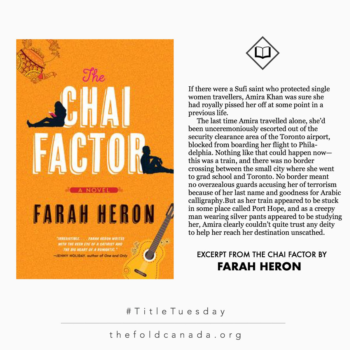 Today were reading THE CHAI FACTOR, by @FarahHeron. Looking for a smart and funny rom-com to curl up with and read? Its RIGHT HERE. AND WE LOVE IT. 😍