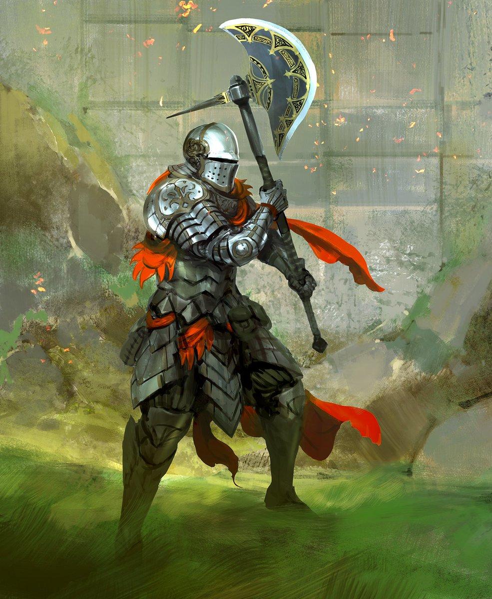 A knight at the wall