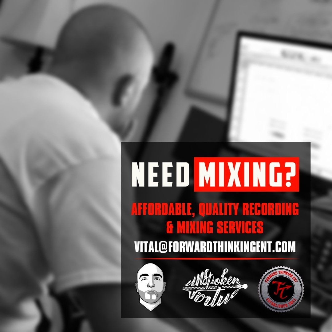 Need mixing? Need studio time? Book your slot today! Top notch quality and standards. Let me bring your music to life!  Art direction by @megamuzikmktg  #UnspokenVirtue #ForwardThinkingENT #audioengineer #producer #protools #maschine #slatedigital #followforfollow<br>http://pic.twitter.com/nq79tj7But