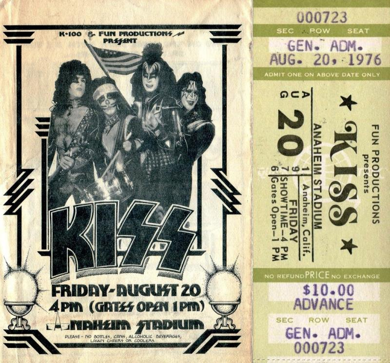 #KISSTORY - Aug. 20, 1976 - #KISS rocked over 42,000 fans at Anaheim Stadium. @TedNugent, @uriah_heep and @BobSeger opened the show.
