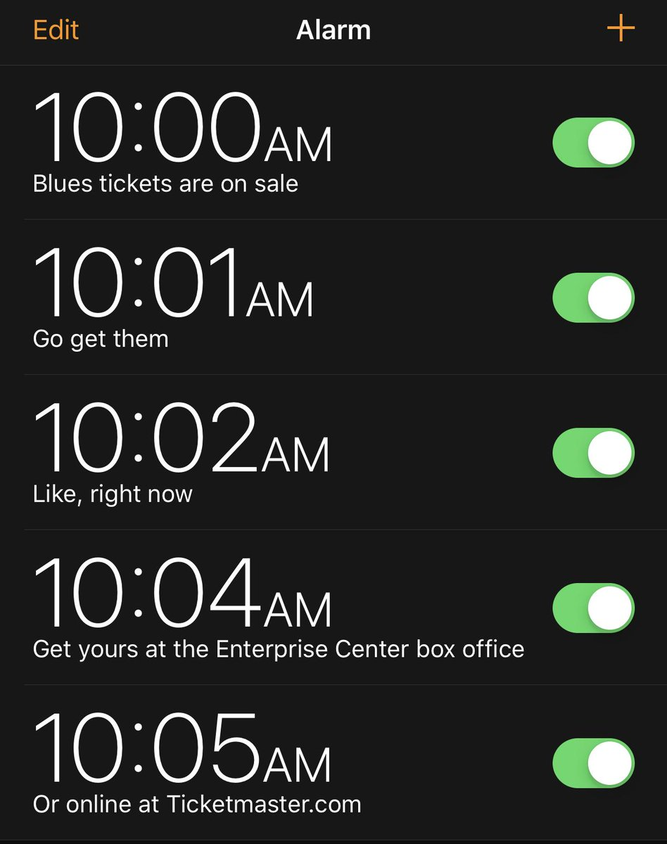 Just setting our alarms for tomorrow ⏰ bit.ly/2YTCvLp #stlblues