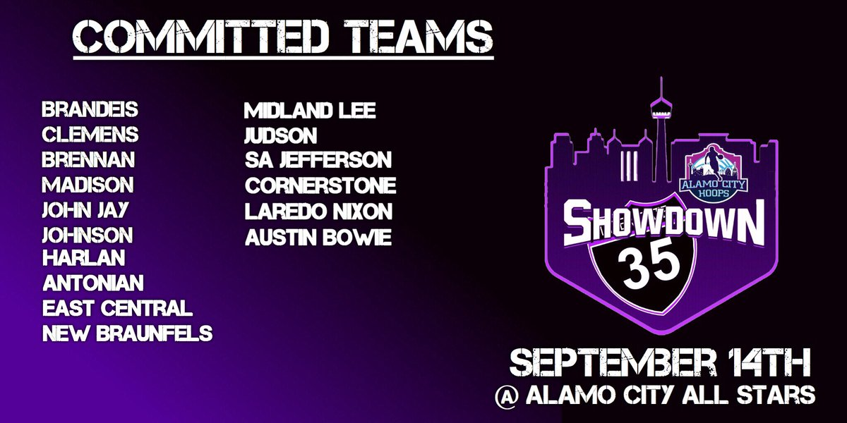 The #i35HSShowndown September 14th. 3 Game Showcase. Only taking 32 teams! Reserve your spot today.