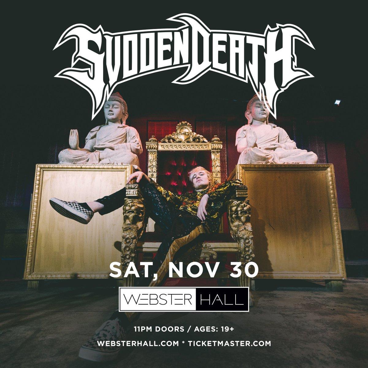 JUST ANNOUNCED: @svddendeathdub will take ya head off on Sat, Nov 30  grab tickets Friday at 10am #latenight >>  https:// tbp.im/2KVUQmi    <br>http://pic.twitter.com/g7PcmAaj8e