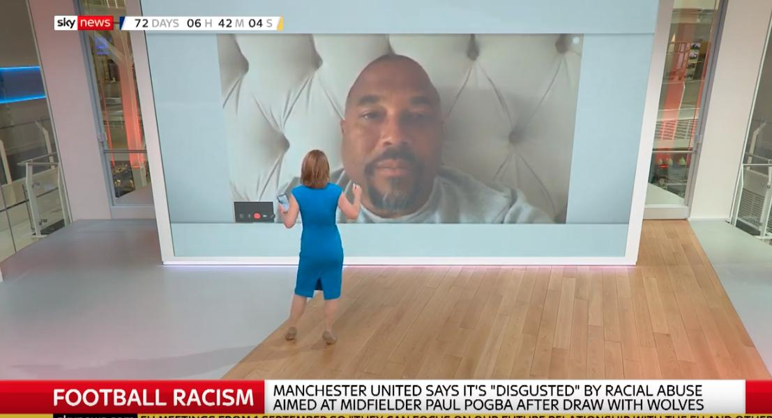 Very much enjoying John Barnes talking to Sky News live from...his bed.