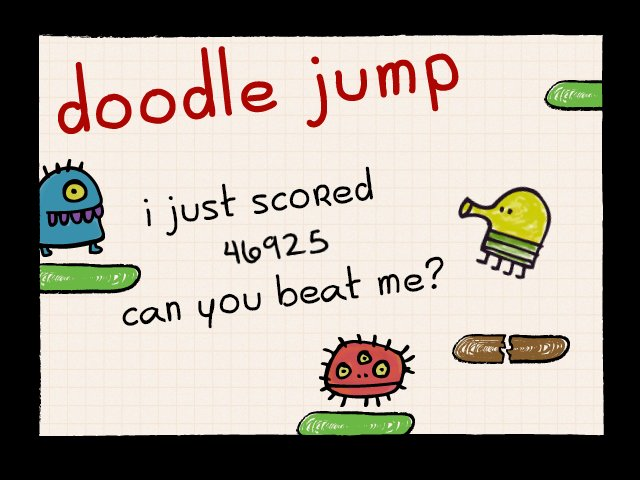 I just scored 46,925 on doodle jump! for android: https://t.co/nwirgHOKxF for ios: https://t.co/stEzOu8V59 for wp8+: https://t.co/4clUfUkmEq https://t.co/DJ8k4dDaPJ