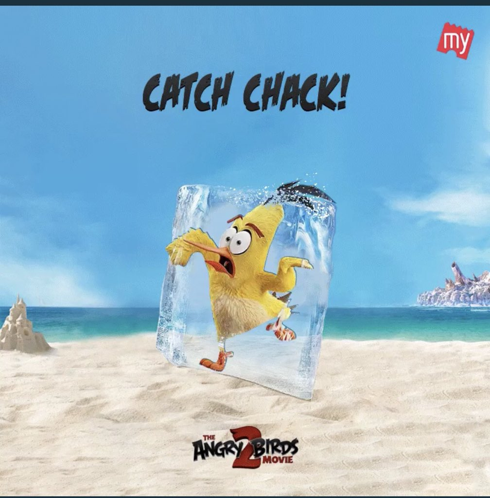 @bookmyshow @bookmyshow I caught this #AngryBird !! #BMSMovies #AngryBirds2onBMS #AngryBirds2 #Chuck