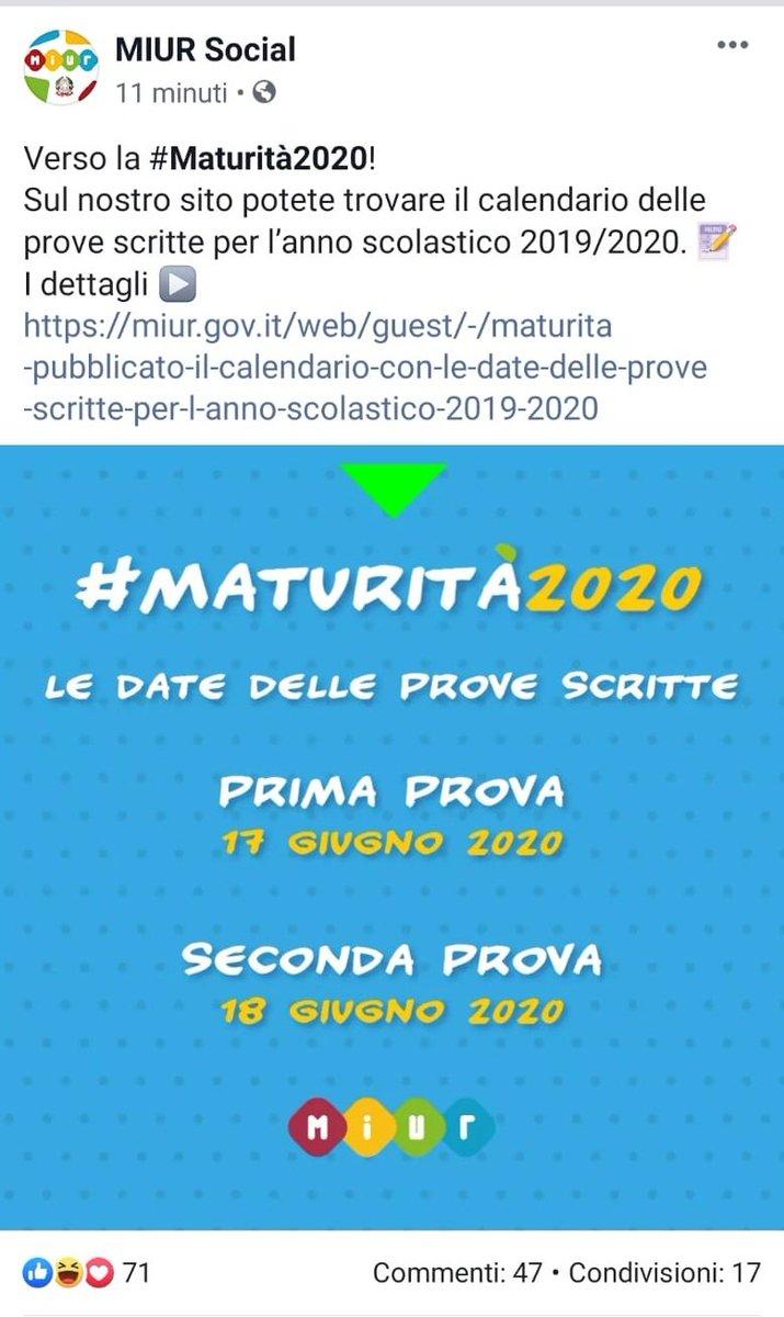 Calendario Maturita 2020.Maturita2020 Hashtag On Twitter