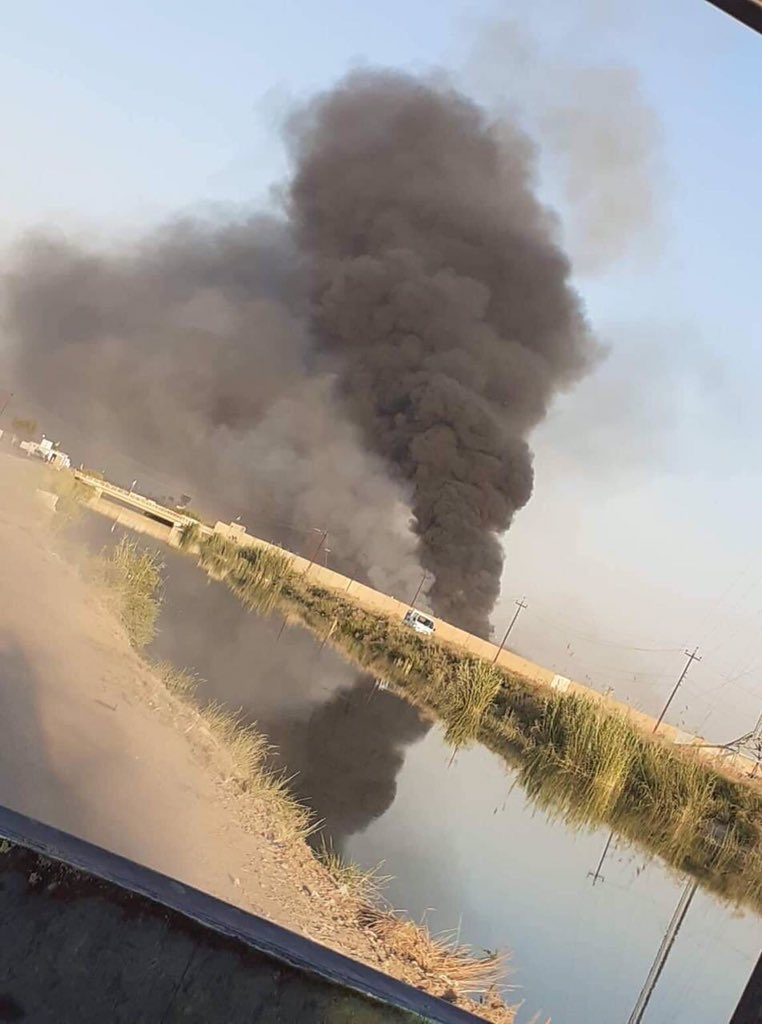 #BREAKING: Sound of explosion heard at a military base belonging to Iran-backed Iraqi Hezbollah miliia group in southern Salahadin province. Reports of airstrikes targeting the base. #Iraq