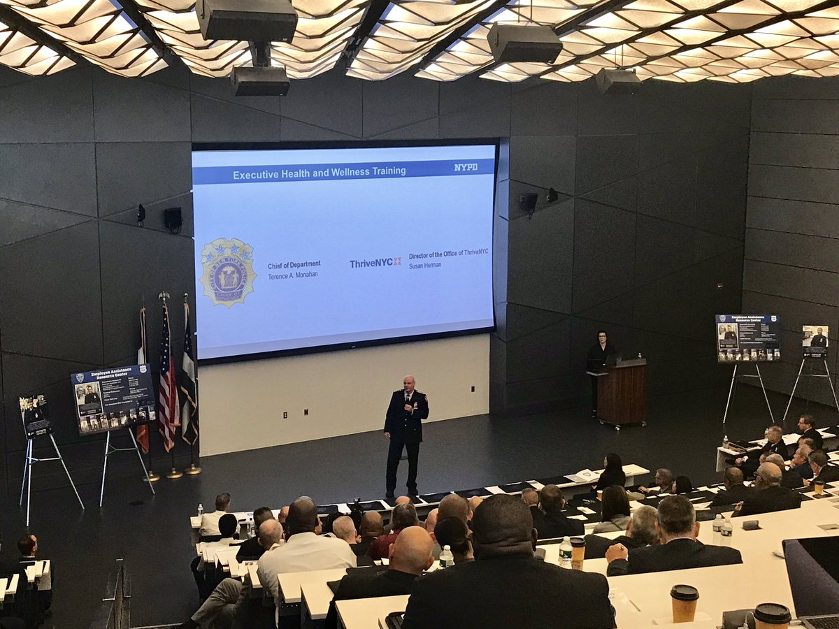#Now: @NYPDChiefofDept making the message clear to the NYPD leaders at our suicide prevention and mental health training — take care of yourselves and ensure your command is an environment that is open to talking and one that fights the stigma. <br>http://pic.twitter.com/c8gl4LcNdt