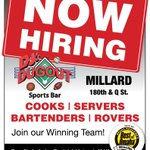 DJ's Dugout in Millard at 180th & Q St. is NOW HIRING part-time & full-time for all positions: Cooks, Servers, Bartenders, & Rovers! Here's your chance to Join Our Winning Team. Apply online at https://t.co/HPkBQIqLwx