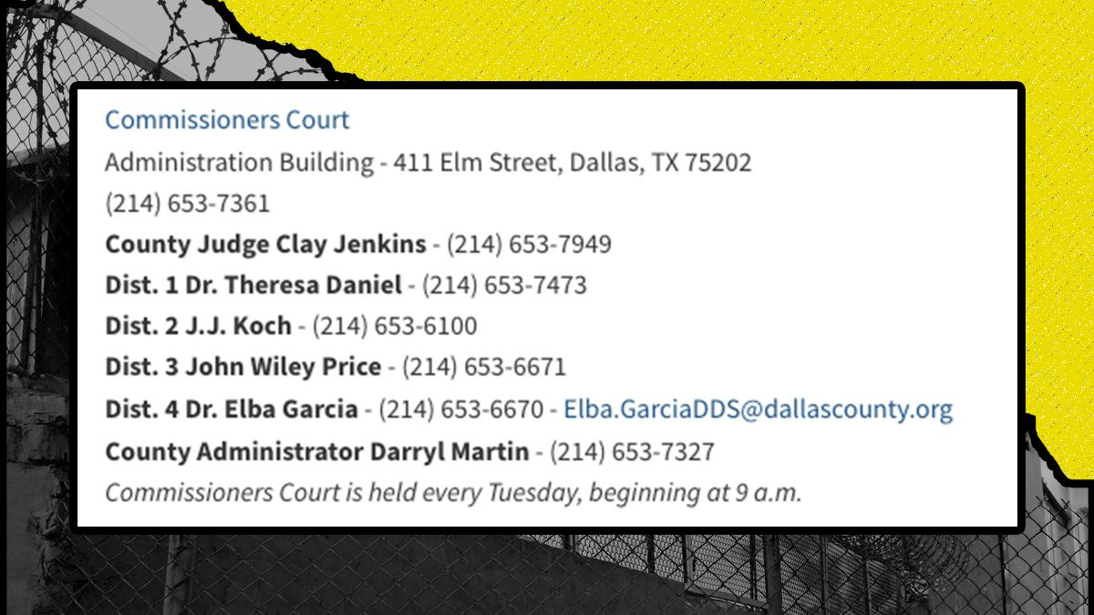 DALLAS: Call your commissioner and the county judge NOW and demand #ICEoutofDallas.