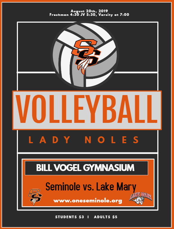 Come out and support your Lady Noles Volleyball team tonight as we open the regular season vs. Lake Mary here at Seminole High School. Freshmen start at 4:30 followed by JV & Varsity at 7 @NolesFootball_ @BokeyVolleyball @bokeybaseball @JRod3510 @shsnoles @NolesBoosters @Shslead https://t.co/0EZiDWd5bp
