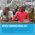 Image for the Tweet beginning: Yesterday was #WorldHumanitarianDay but #Act4Ed