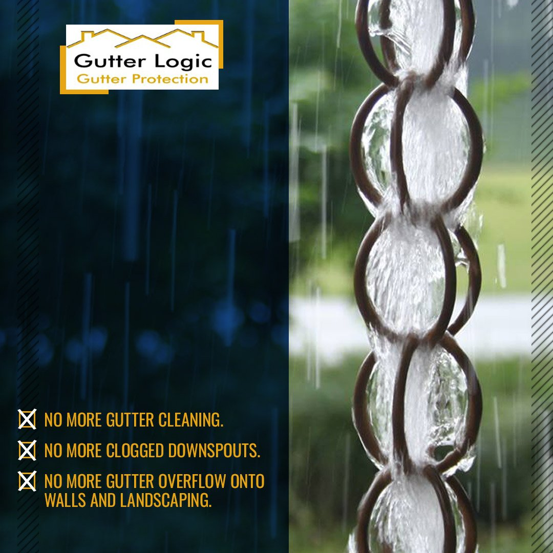 @GutterDome does more than protecting your gutters from debris, it also coats your gutter guards with a clean anodizing finish to prevent pipe corrosion.