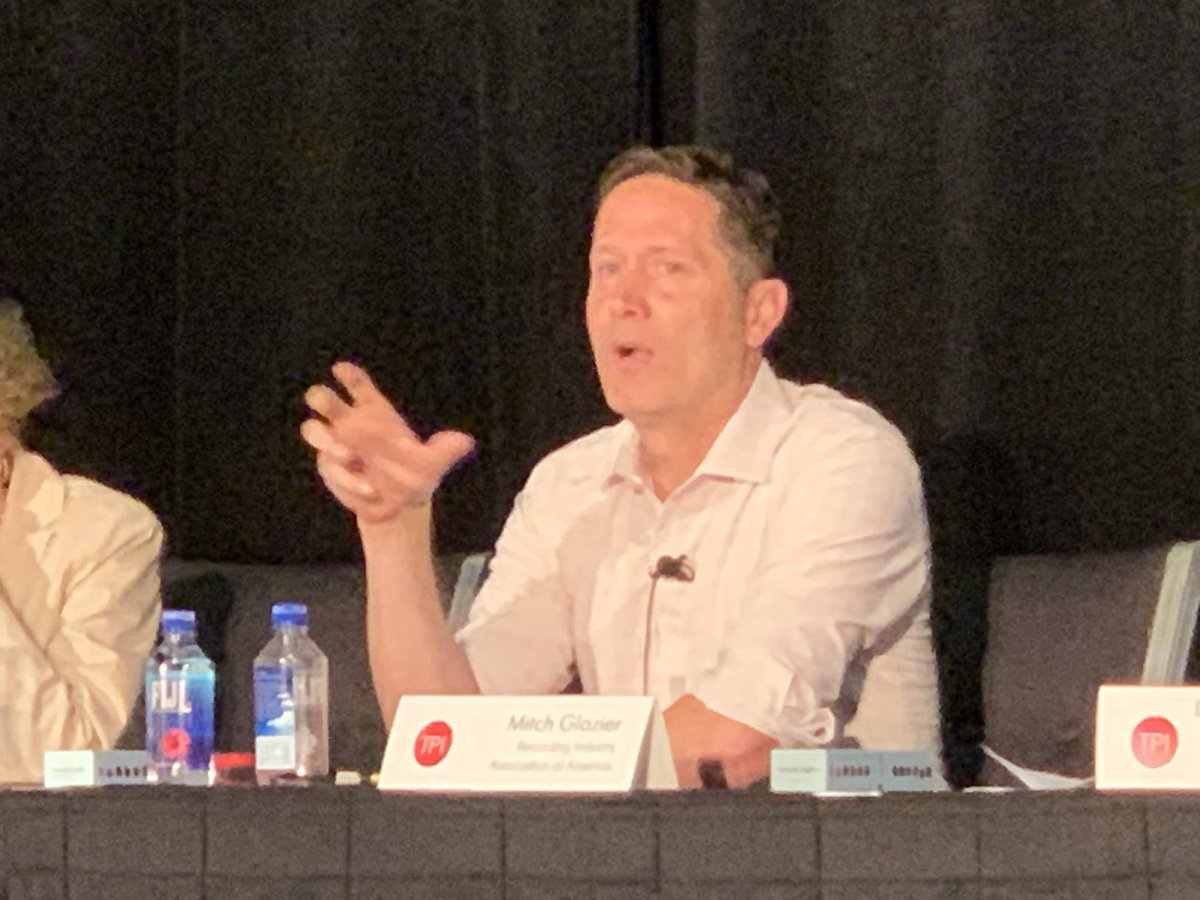 For music, there are many choices in the free market, which is incredibly robust. In the US, as you turn to the regulated market, choices diminish because of outdated regulations that require many notices to take down unauthorized content. - RIAA CEO @mitch_glazier #TPIAspen