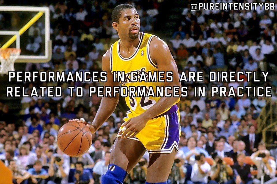 Performances in games are directly related to performances in practice - Magic Johnson