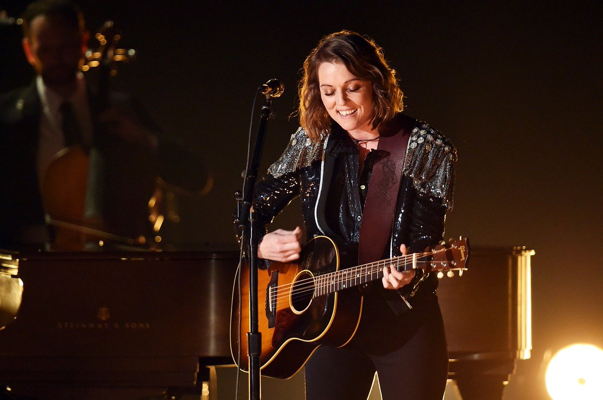 """Let 'em spin, let 'em scatter in the wind  I have been to the movies  I've seen how it ends  And the joke's on them (@LyricFind)   @brandicarlile performed her GRAMMY-winning song """"The Joke"""" at the 61st #GRAMMYs <br>http://pic.twitter.com/QAAbFt2kj2"""