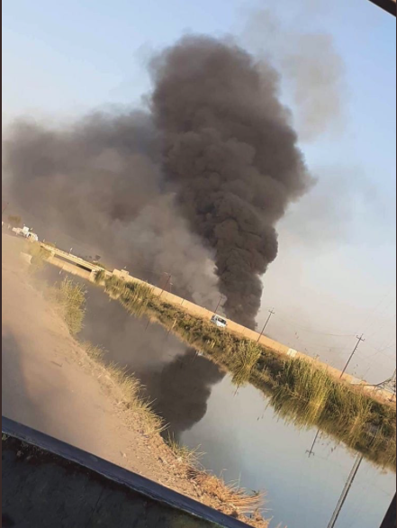 BREAKING - possible #Israel airstrikes hit an #Iran-backed #PMF weapons depot in #Iraqs Salah ad Din. The explosions today come just days after #Baghdad demanded *all* aircraft (civil, military & recon) acquire prior MOD approval. (Images via @BaxtiyarGoran)
