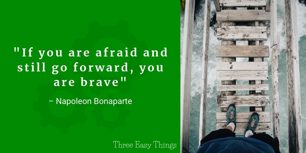 If you are afraid and still go forward, you are brave - Napoleon Bonaparte #Quotes #InspirationalQuotes <br>http://pic.twitter.com/r0JUnS6axU