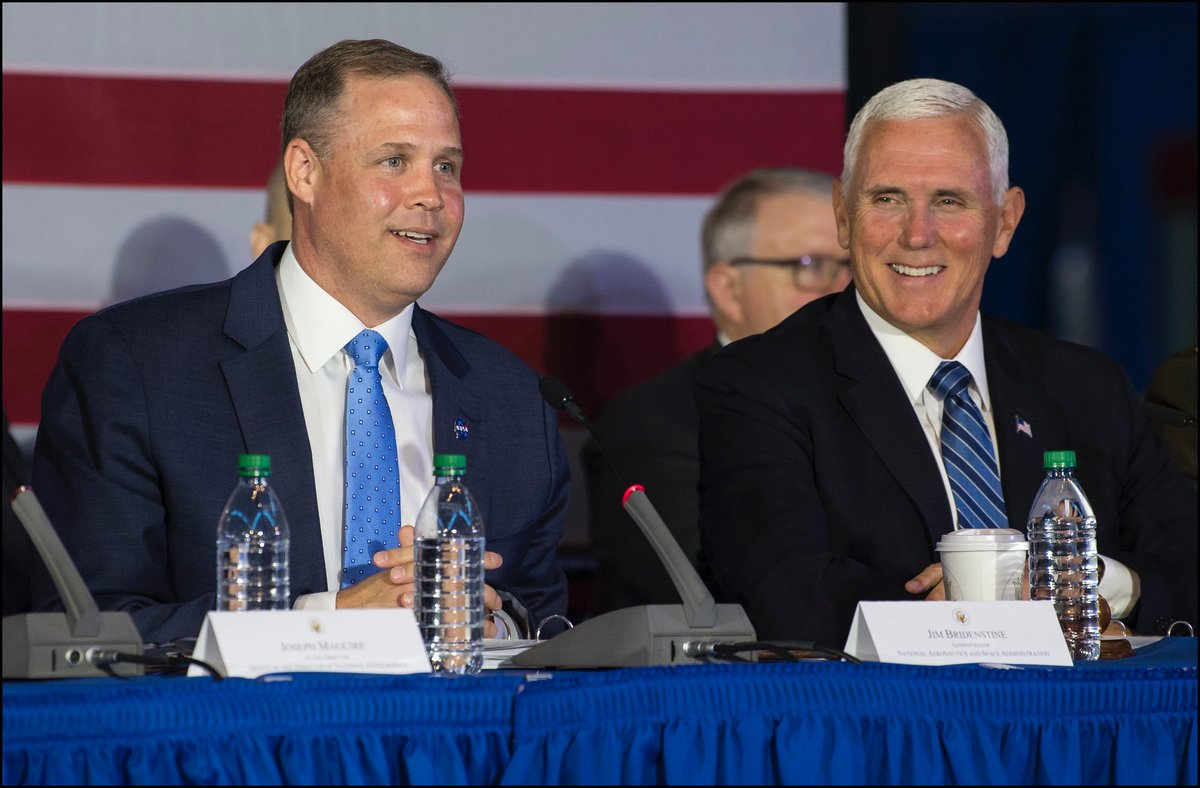 NASA Administrator @JimBridenstine participated in todays National Space Council meeting at @airandspaces Udvar-Hazy Center. Check out more pictures - flic.kr/s/aHsmGknU2B