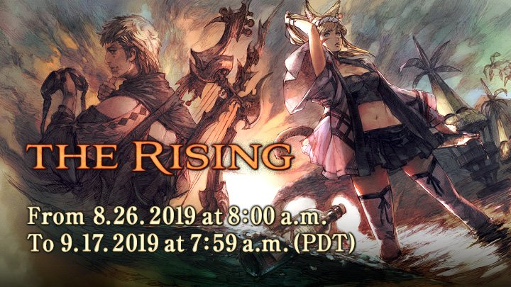 Celebrate 6 years of #FFXIV during our anniversary event, The Rising! 🍾🎇 Starting on August 26, lend aid to Pobyano on the Costa del Sol shores to unravel a special message! sqex.to/Q6b4r