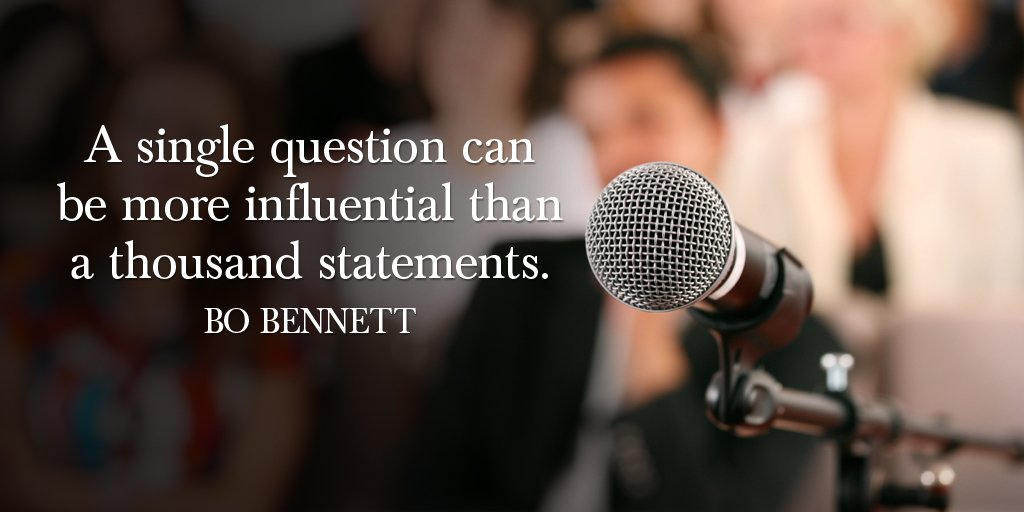 A single question can be more influential than a thousand statements. - Bo Bennett  #InspireThemRetweetTuesday #TuesdayThoughts<br>http://pic.twitter.com/0SduxbG3g7