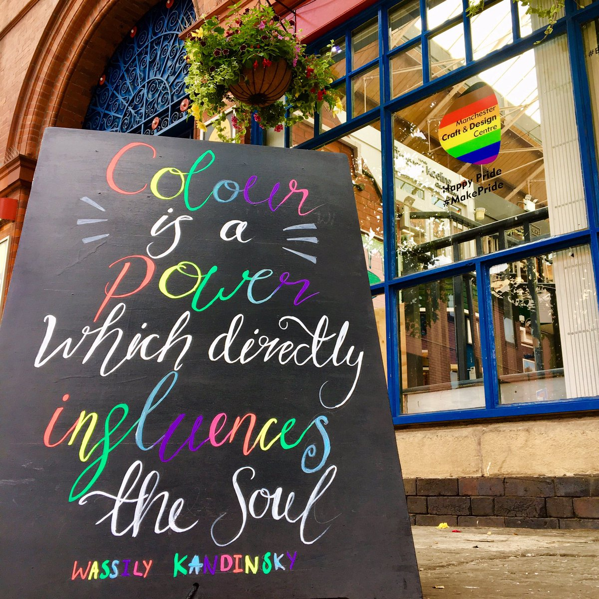 Creative and inspiring #pride vibes ahead of #mcrpride weekend with this inspiring #kandinsky #quote to #makepride #manchesterpride2019 #manchesterpride #inspiringquotes #wassilykandinsky #colour #creativity<br>http://pic.twitter.com/L5PZr71XmX