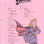 Image for the Tweet beginning: #Supergirl original sketches kindly donated