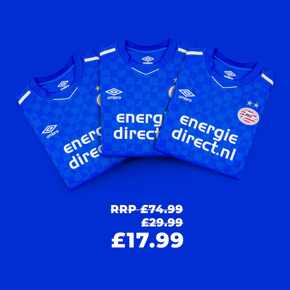 Weekly Deal: PSV 17-18 third by Umbro Only £17.99 until Monday 5pm - ow.ly/m4N550vDriS