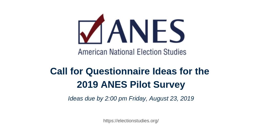 American National Election Studies (ANES) (@electionstudies