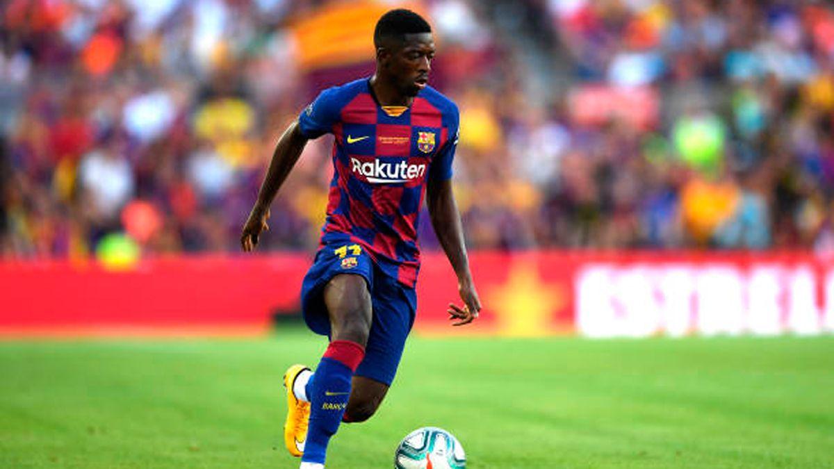 #برشلونة يؤكد إصابة لاعبه #عثمان_ديمبيلي وقد تصل مدة غيابه إلى 5 أسابيع#218TV