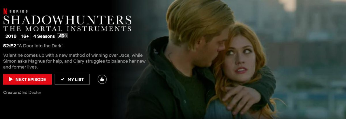 Rewatch of #Shadowhunters in 30 minutes, Today´s episode S02E02 A Door Into The Dark. Let´s get Jace out of that ship. Clary help him, please😎 #Shadowhunterschat