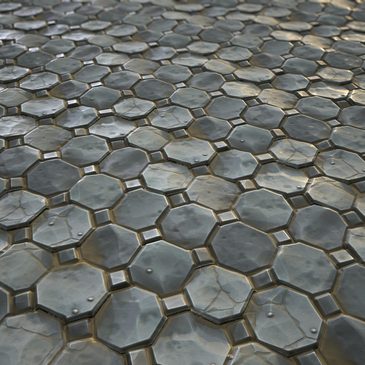 Stylized stone floor inspired from Overwatch style. Textured in Substance Designer & rendered in Marmoset Toolbag.  #MadeWithSubstance #Stylized<br>http://pic.twitter.com/nYCRcebj6D
