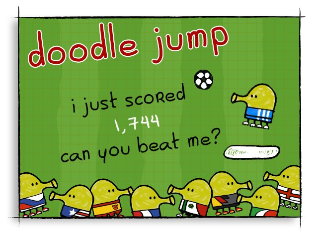 I just scored 1,744 on doodle jump! for ios: https://t.co/POnYcbmvbo for android: https://t.co/CvTLxUa177 https://t.co/b0KEE19skK