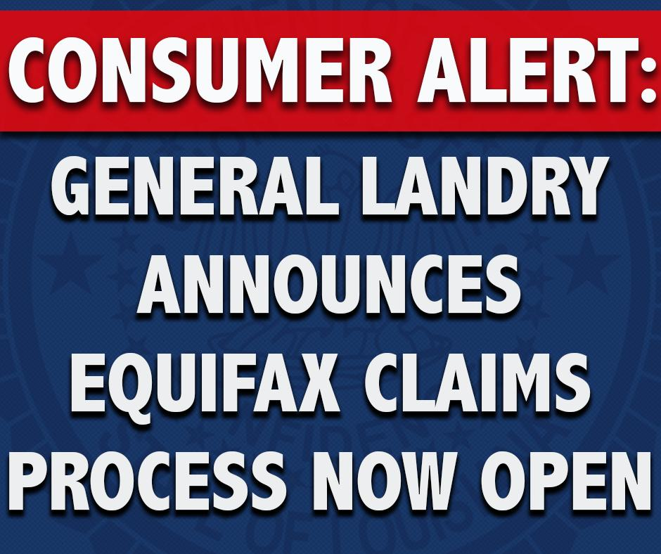 CONSUMERS AFFECTED BY THE #EQUIFAX DATA BREACH CAN NOW FILE CLAIMS AS PART OF THE $425 MILLION CONSUMER RESTITUTION FUND  File a claim, get more info & register for email updates at https://t.co/DKLtZX1f1A. Eligible consumers must submit claims before 1-22-2020 #lalege #lagov https://t.co/vgQa1HzCax