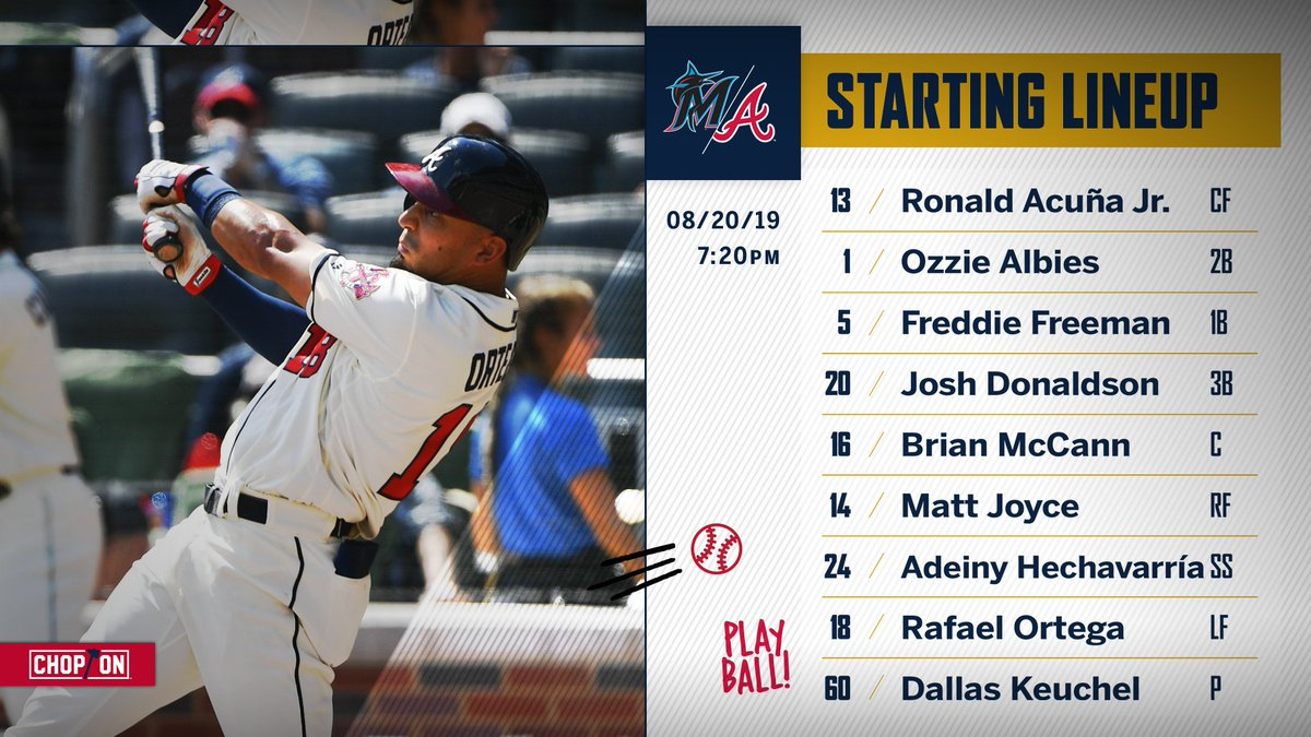 The off day is over. Let's get back to #Braves baseball! #ChopOn