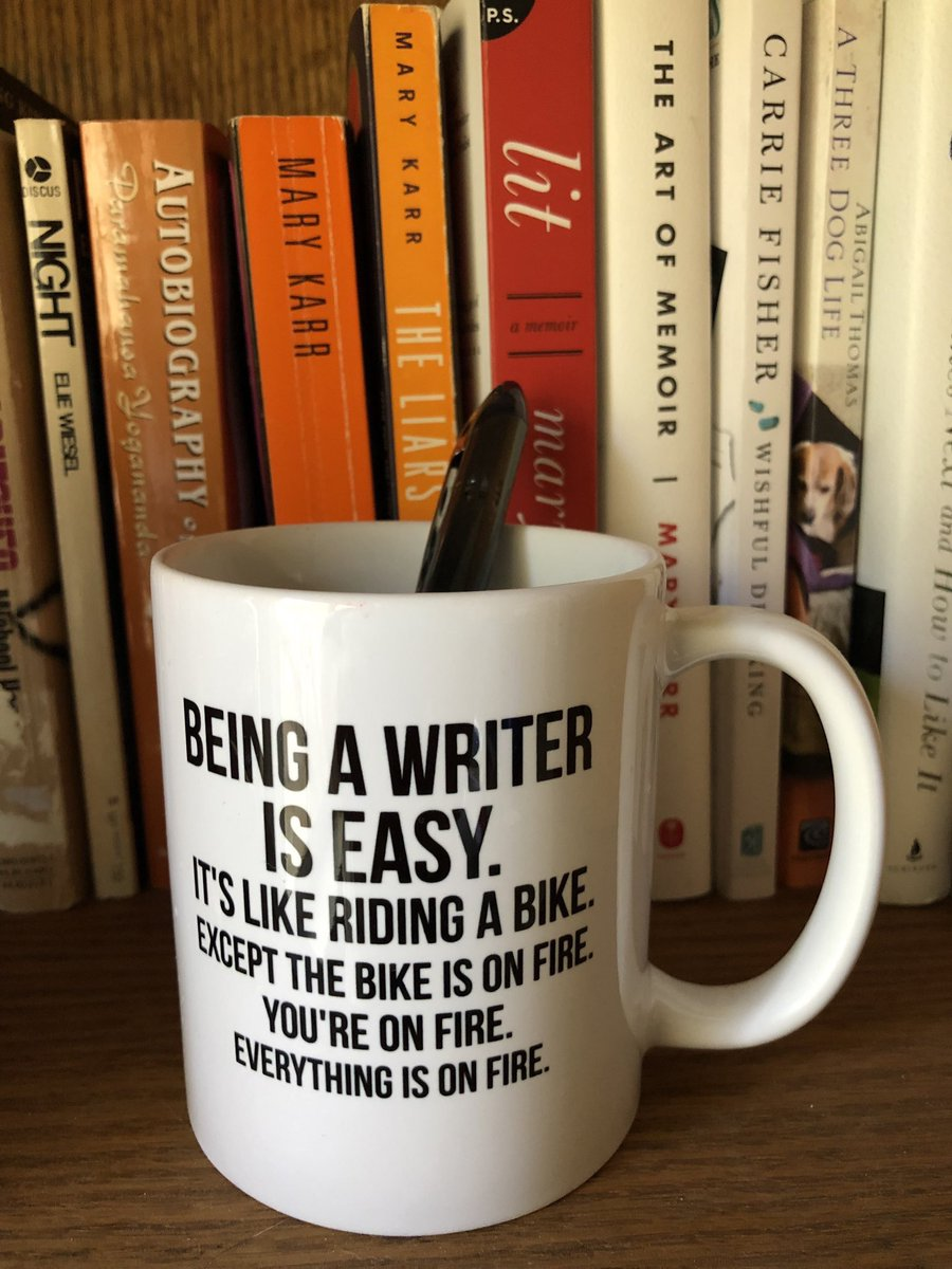 'Being a writer is easy. It's like riding a bike except the bike is on fire. You're on fire. Everything is on fire.' (Thnx to @RobsTinFoilHat for the picture & the wisdom) #writerslife #writingtips #writerscommunity #poetrycommunity #Poet #POEMS #Poetry<br>http://pic.twitter.com/zTzqktRjWx