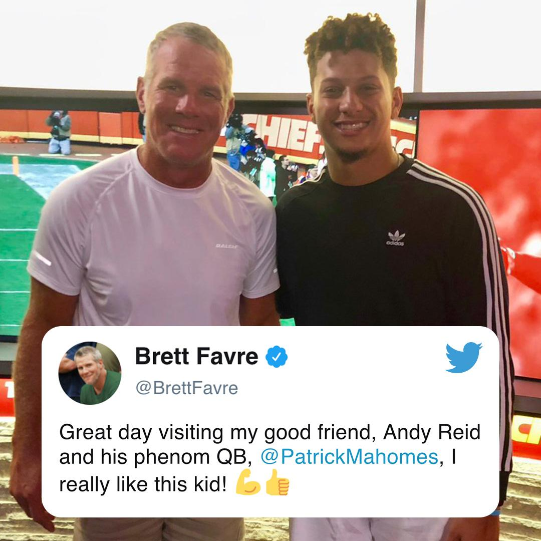 Thats a lot of arm talent in one picture 💪🚀 (via @BrettFavre)
