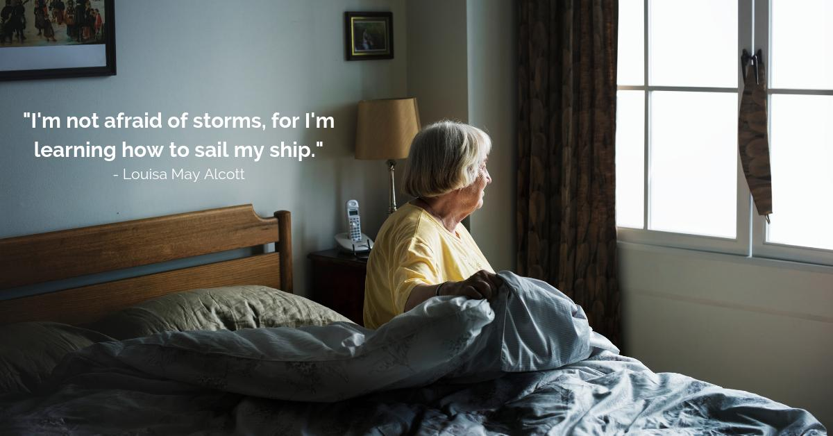 """""""I'm not afraid of storms, for I'm learning how to sail my ship."""" Louisa May Alcott #inspirationalquotes #caregiving<br>http://pic.twitter.com/zZEJe7u0Yf"""